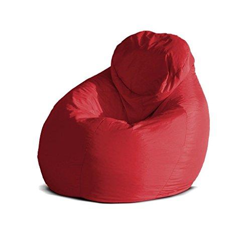 Pouf-poltrona-sacco-grande-BAG-XXL-Jive-tessuto-tecnico-antistrappo-rosso-imbottito-Avalon