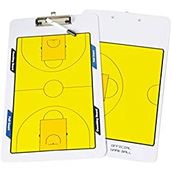 Navadeal pizarra borrable de doble cara para entrenar baloncesto con clip