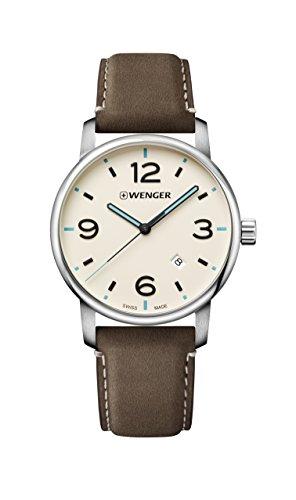 Wenger Herren analog Schweizer Quarzwerk Uhr 01.1741.118
