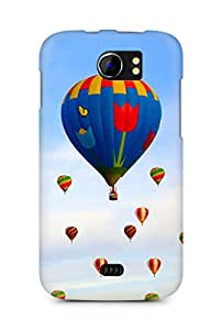 Amez designer printed 3d premium high quality back case cover for Micromax Canvas 2 A110 (Hot air balloon field)