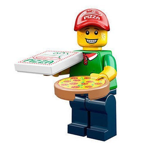 LEGO Minifigur - Series 12 - Pizza Delivery Man - 71007 - Serie 12