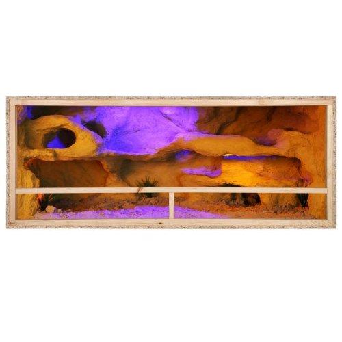 Repiterra® Terrarium aus Holz 150x80x80 cm mit Seitenbelüftung aus OSB Platten mit Floatglas