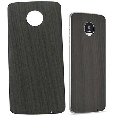 Dngn Moto Mods Style Shell Hülle für Motorola Moto Z3 Z2 Z Force Play Droid Magnetische Adsorption Rückenplatte Schutzhülle (schwarzes Holzmaserung)