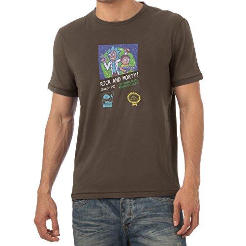 TEXLAB - Retro Design Rick - Herren T-Shirt Braun