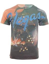 SoulStar - T-Shirt Homme Col Ras de Cou Maillot Graphisme Imprimé