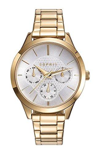 ESPRIT Damen Chronograph Quarz Uhr mit Edelstahl Armband ES109622002