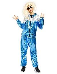 Karneval 80er Jahre Kostuem Trainingsanzug Retro Training Anzug Jogginganzug Assianzug Jogging Jacke Hose fuer Herren