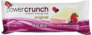 Power Crunch Protein Energy Bar, Wild Berry Creme, 12 Bars, 1.4 oz (40 g) Each