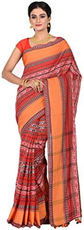 TANTUJA BENGAL HANDLOOM Women's Tant Cotton Saree(011H8B9623/NS 07_