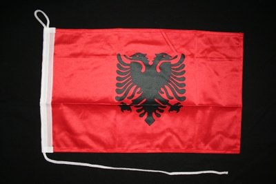 Motorrad-/Bootsflagge 25x40cm: Albanien