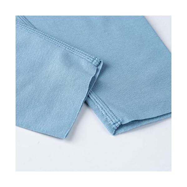 Pouybie 1 pc Pijamas para niños, Ropa Interior térmica sin Costuras y Ropa Interior térmica de Invierno para niños Top… 5