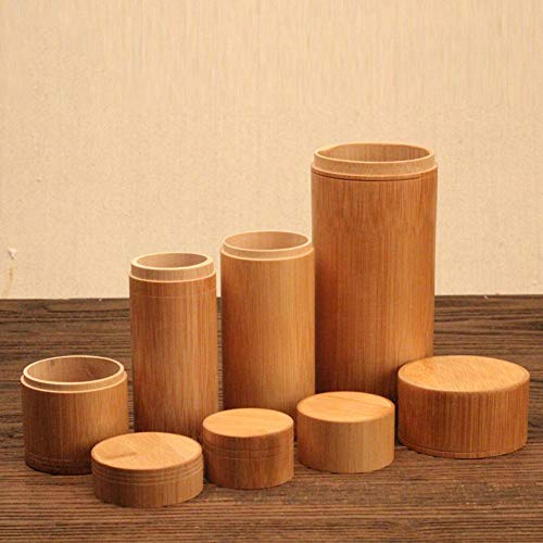 Teekanne Bambus Versiegelt Aufbewahrungsbox Gerade Kanister Glas Container Mit Deckel Halter Holz Porable Caddy Teekanne Reise Outdoor Dosen Geschenke Kanister Reine Art Tragbare Kann -