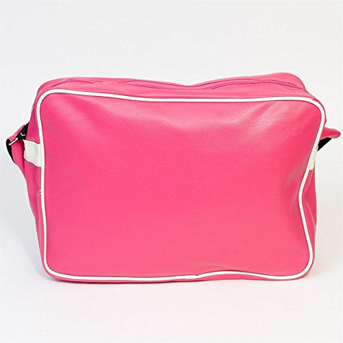 Borsa a tracolla Messenger stampa I Love London, Crema Rosa scuro