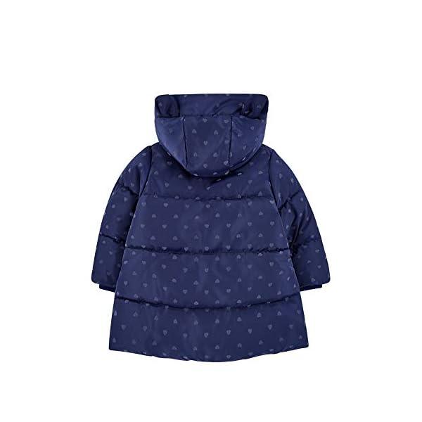Mothercare Padded Coat Duvet Wrap Navy Heart Abrigo para Bebés 2
