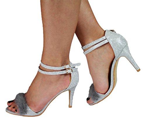 Generic , Damen Sandalen Silber