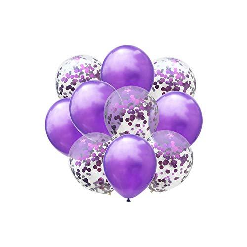 Sobre-mesa 10pcs/Lot 10 inch Birthday Decoration Blue Pink Confetti Balloon Happy Birthday Balloons Baby Shower Gender Reveal Balloons,Olive Mesa Olive