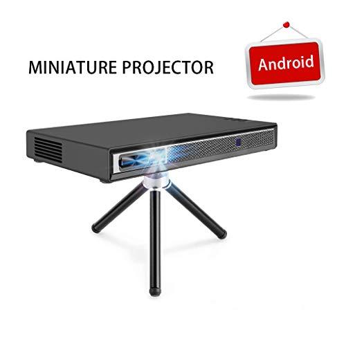 Qmber Mini Projektor Video Beamer Projektoren Miniprojektor T5 2019 Neues Upgrade Android 6.0 Unterstützung 1080P 4K HDMI 3D DLP-Link T5 unterstützt Handy mit Beamer (Schwarz) Digital Projector Ceiling Mount