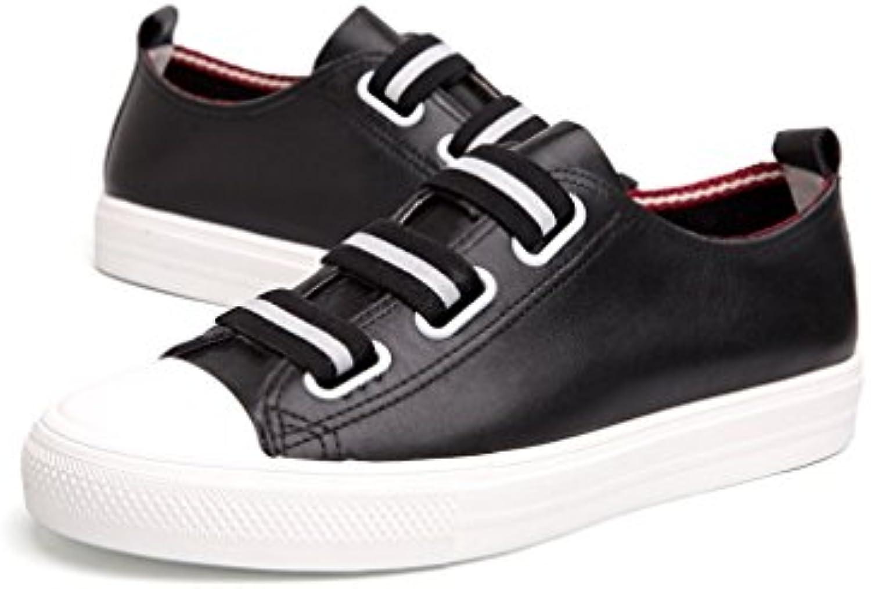 Primavera y Verano Moda Deportes Ocio Nueva Primera Capa de Cuero Tendencia de la Moda Jóvenes Zapatos Casuales...