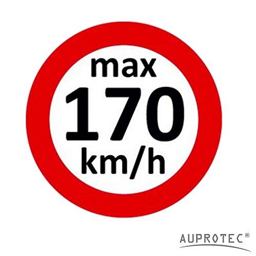 Geschwindigkeitsaufkleber Winterreifen Aufkleber 160 - 240 km/h Auswahl: (10 Stück, 170 km/h)