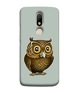 Motorola Moto M Back Cover, Motorola Moto M Back Case Pretty Brown Owl Design From Printvisa