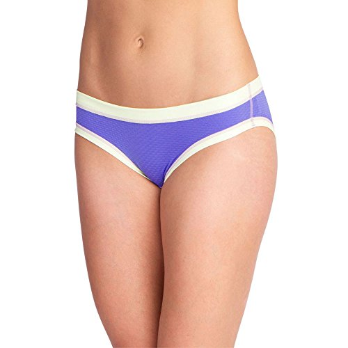 ExOfficio Damen Give-N-Go Sport Mesh Bikini Brief Unterwäsche, Blue Iris, L (Brief Exofficio Bikini)