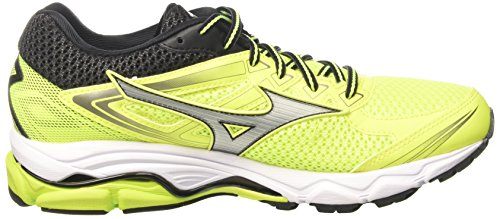 Mizuno Wave Ultima 8, Chaussures de Running Compétition Homme Multicolore (Safetyyellow/silver/black)