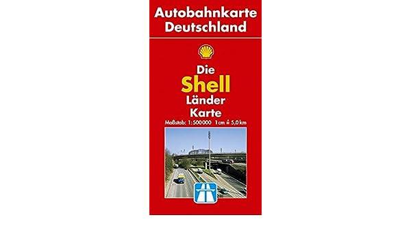 Shell Grosse Autobahnkarte Deutschland 1 500 000 Amazon Co Uk