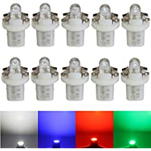 LED-Mafia 4X Halogen Round Heat Tachobeleuchtung Cockpitbeleuchtung Set wei/ß wei/ß blau rot Cockpit l