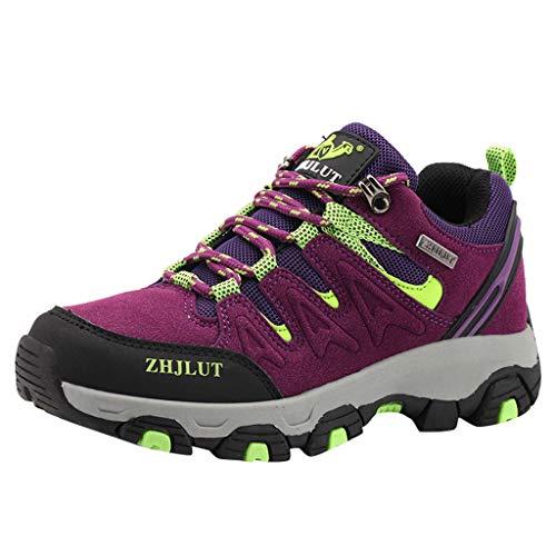 POLPqeD Scarpe da Escursionismo Arrampicata Sportive All'aperto Impermeabili Traspiranti Trekking Sneakers da Donna