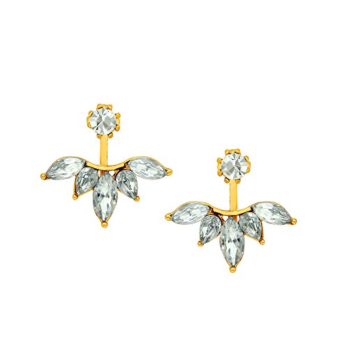 Mahi-Gold-Plated-Trendy-Dual-Wear-Solitaire-Stud-And-Leaf-Drop-Earrings-With-Crystal-Er1109429G-For-Women