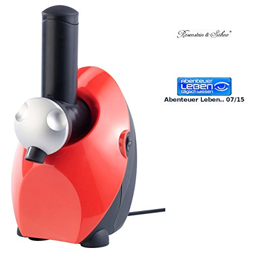 Rosenstein & Söhne Sorbetmaschine: Eismaschine - Fruchteis und Sorbet Maker (Eiscrememaschine)