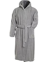 Myrtle Beach Bathrobe with hood for men and women (S, silver)