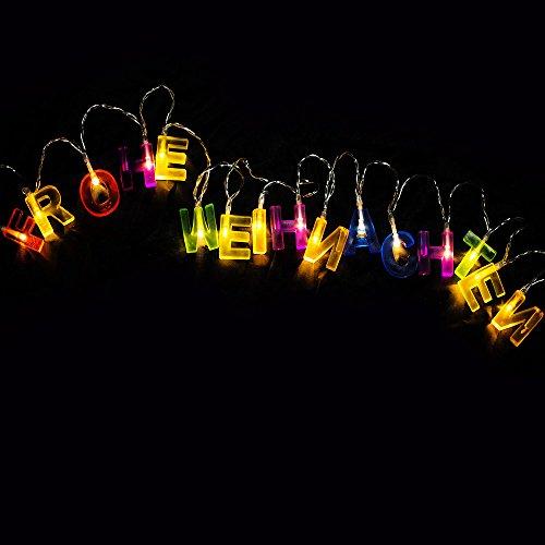 Led Frohe Weihnachten.Led Lichterkette Weihnachtslichterkette Frohe Weihnachten