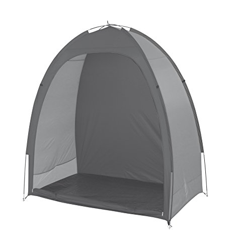 Bo-Camp 4471900, Fahrradzelt Fahrrad Garage Beistellzelt Gerätezelt Lagerzelt Umkleide Zelt Camping Pavillon,grau