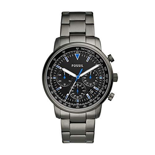 Fossil Herren Chronograph Quarz Uhr mit Edelstahl Armband FS5518