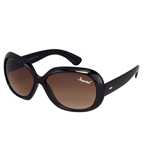 Imperial Club Women Over-Sized Double Gradient Brown Wayfarer Sunglasses (wy078)