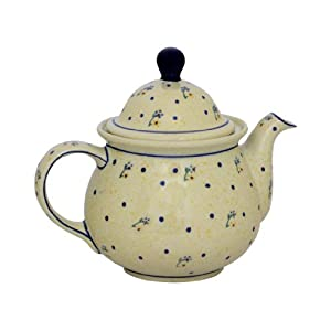 Blue Rose Polish Pottery Country Meadow Large Teapot