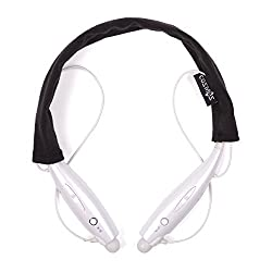 Cosmos  Black Soft Cotton Headset Cover/protector/sleeve for Lg Tone Pro Ultra INFINIM / Tone+ Hbs-730 and other LG Tone Stereo Wireless Bluetooth Headset Headphone