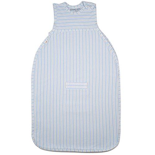 Merino Kids Duvet-Weight Baby Sleep Bag, Winterschlafsack für Kinder 2-4 Jahren, Sky/Light Grey Stripe -