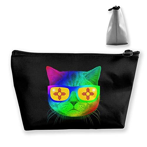 Mexiko-Flaggen-Sun-Miezekatze-Kätzchen-Meow-Sonnenbrille-Reise-Kulturbeutel-tragbare Make-upkästen