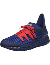 PUMA Men's Ignite Limitless Netfit Sneaker, Blue Depths-Lapis Blue, 14 M US