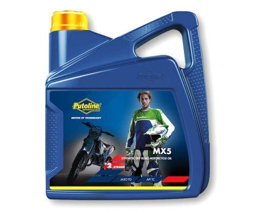 4litri Olio motore 2tempi MX 5Sintetico Api TC JASO FD per Motocross