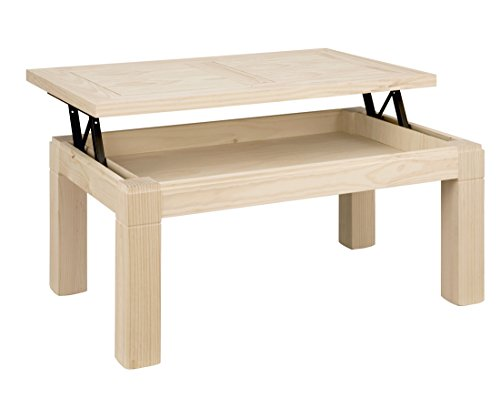 ojemar international Table Basse Tokyo t. Bois relevable 110 x 70 cm. (Pieds Amovibles)