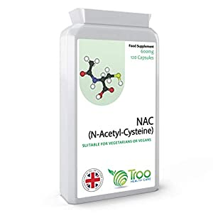 41KUCHJIolL. SS300  - Troo NAC Supplement (600mg) - 120 Capsules | N-Acetyl-Cysteine Amino Acid - Stable Form of L-Cysteine | UK Manufactured to GMP Standards