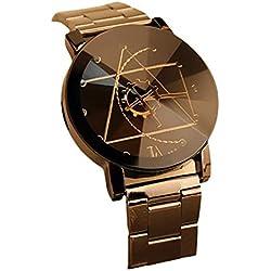 Sunnywill Mode Uhren Edelstahl Quarz Analog-Armbanduhr für Herren
