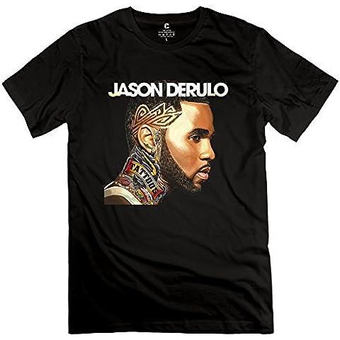 Homme's Jason Derulo Tattoos T-Shirt - Black