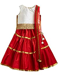 A.T.U.N. All Things Uber Nice Girls' Regular Fit Lehenga Choli