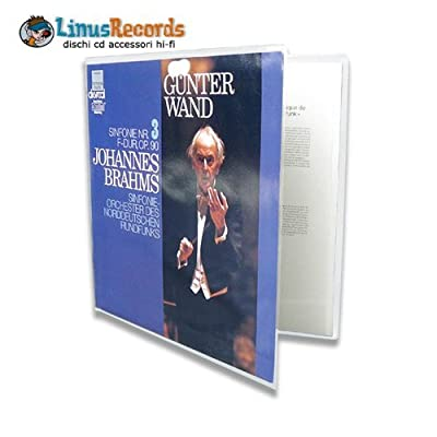 """12"""" Inch Vinyl Records Sleeves Pvc Deluxe For Gatefold Cover (pack Of 10)"""