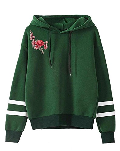 Minetom Damen Frauen Casual Cropped Gedruckt Streifen Hoodies Langarm Jacke Tops Sweatshirt...