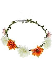 Damen Sommer Bohemia Blumen Haarband Haarreif Blumenkranz Hochzeit Haarschmuck